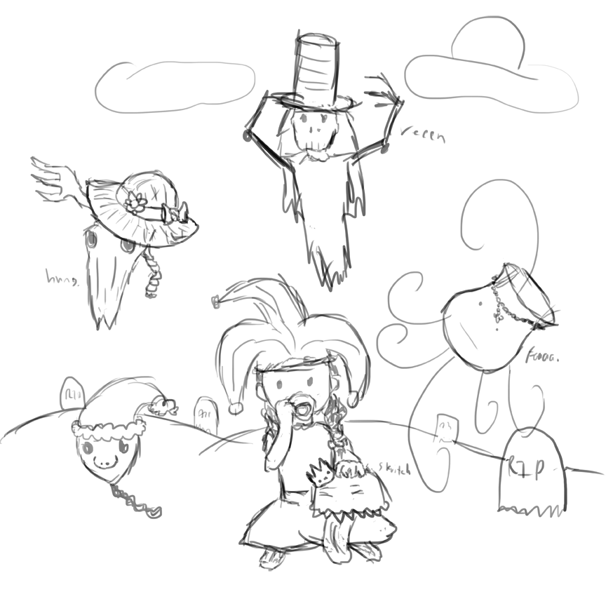 Sketch Saturday Senior Project: Ghost Peach Party