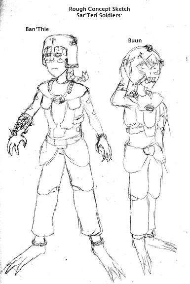 Sketch Day: Sar'Teri Soldiers